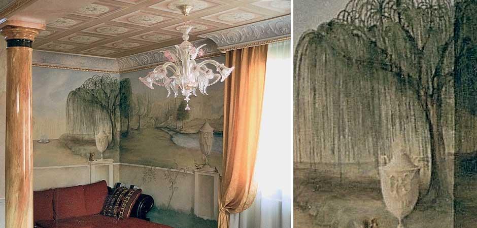 Decorazione soffitto e pareti- Mattavelli